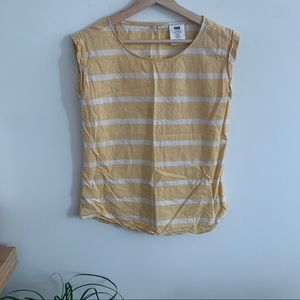 Levi's - Yellow and White Stripe Tank Top - Linen